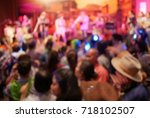 blurry image in cowboy night... | Shutterstock . vector #718102507
