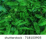 green leaves concept   abstract ...   Shutterstock . vector #718103905