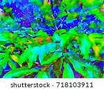 green leaves concept   abstract ...   Shutterstock . vector #718103911