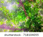 green leaves concept   abstract ...   Shutterstock . vector #718104055