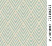 geometric seamless pattern.... | Shutterstock .eps vector #718106515