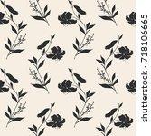 floral seamless pattern. vector ...   Shutterstock .eps vector #718106665