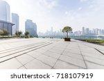 empty floor with modern...   Shutterstock . vector #718107919