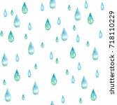 watercolor seamless pattern... | Shutterstock . vector #718110229