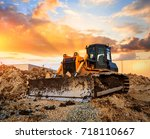 Bulldozer On A Building Site At ...