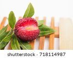 red bayberry | Shutterstock . vector #718114987