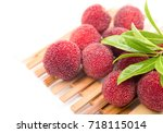 red bayberry | Shutterstock . vector #718115014