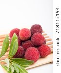 red bayberry | Shutterstock . vector #718115194