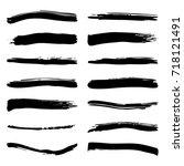 grunge shape element texture set | Shutterstock .eps vector #718121491