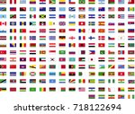 flags of the world  | Shutterstock .eps vector #718122694