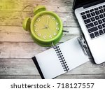 close up of laptop  note book ... | Shutterstock . vector #718127557