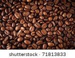 coffee beans background | Shutterstock . vector #71813833
