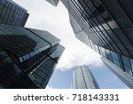 urban skyline with business... | Shutterstock . vector #718143331