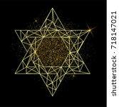 rosh hashanah greeting card... | Shutterstock . vector #718147021