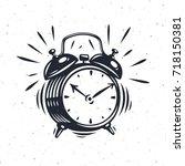 Hand Drawn Alarm Clock Isolated ...