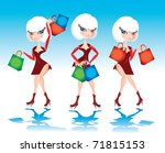 fashion shopping female | Shutterstock .eps vector #71815153