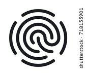 simple fingerprint icon... | Shutterstock .eps vector #718155901