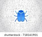 abstract high tech circuit... | Shutterstock .eps vector #718161901
