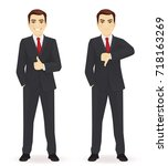businessman showing thumbs | Shutterstock .eps vector #718163269