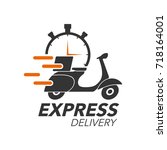 express delivery icon concept.... | Shutterstock .eps vector #718164001