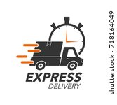 express delivery icon concept.... | Shutterstock .eps vector #718164049