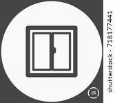 window minimal vector icon.... | Shutterstock .eps vector #718177441