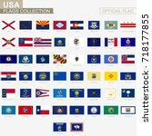 state flags of united states of ... | Shutterstock .eps vector #718177855