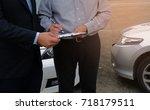 loss adjuster insurance agent... | Shutterstock . vector #718179511