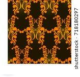 vector pattern abstract... | Shutterstock .eps vector #718180297