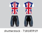 uk sportswear   cyclist clothes ... | Shutterstock .eps vector #718185919