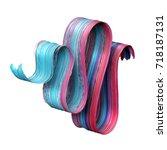 3d render  abstract brush... | Shutterstock . vector #718187131