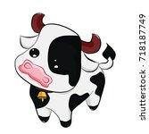 little cow vector. | Shutterstock .eps vector #718187749