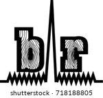 bar logo. amplitude bar text.... | Shutterstock .eps vector #718188805