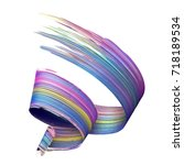 3d render  abstract brush... | Shutterstock . vector #718189534