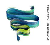 3d render  abstract brush... | Shutterstock . vector #718189561