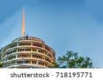 los angeles  ca  usa   october... | Shutterstock . vector #718195771