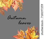autumn leaves | Shutterstock . vector #718197259