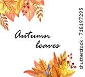 autumn leaves | Shutterstock . vector #718197295