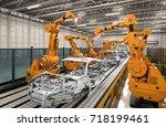 3d rendering robot assembly... | Shutterstock . vector #718199461