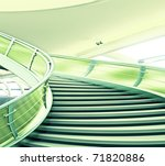 Futuristic Spiral Staircase - stock photo