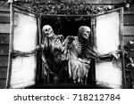 Spooky Skeletons At A Haunted...