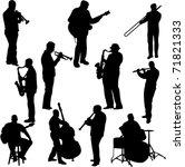 musicians collection   vector | Shutterstock .eps vector #71821333