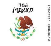i love mexico illustration.... | Shutterstock .eps vector #718214875