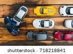 the group of car toy on the... | Shutterstock . vector #718218841