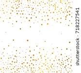 festive explosion of confetti.... | Shutterstock .eps vector #718227541