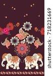seamless ethnic vintage pattern ... | Shutterstock .eps vector #718231669