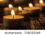 Christmas Candles Burning At...