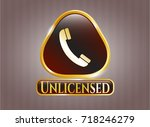 gold shiny badge with old... | Shutterstock .eps vector #718246279