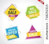 special offer  sale labels ... | Shutterstock .eps vector #718252315