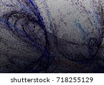 abstract halftone background.... | Shutterstock . vector #718255129